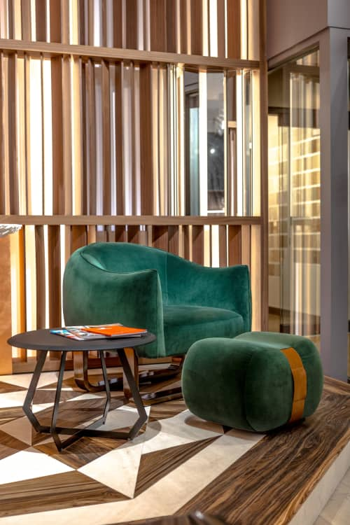 Chairs by Marie Burgos Design and Collection at d&d Building, New York - Milo Armchair