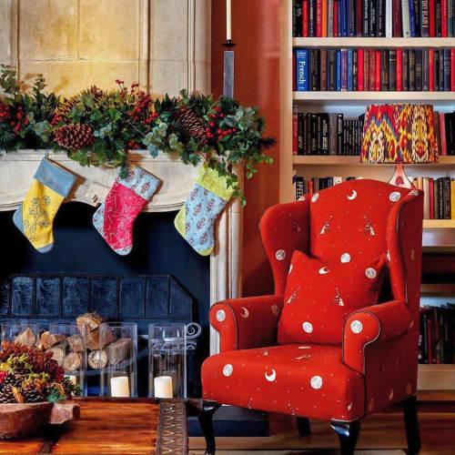 Chairs by Chelsea Textiles seen at Ham Yard Hotel, London - Moondog