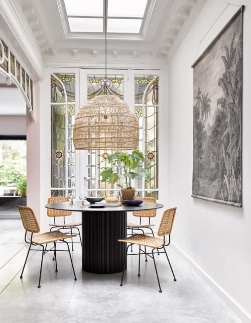 Chairs by HKliving USA seen at Private Residence, Chicago, Chicago - Rattan Desk Chair - Natural