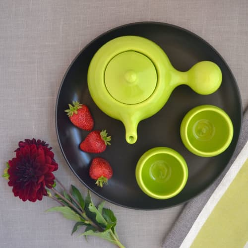 Tableware by Maia Ming Designs seen at Private Residence, Elk Grove Village - Bulb Tea Set