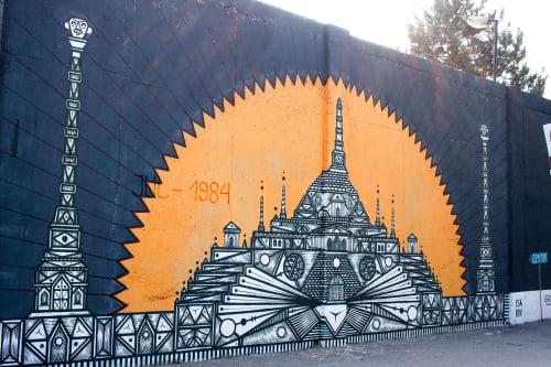 Murals by Isakov seen at Požarevac, Požarevac - Street Smart Belgrade