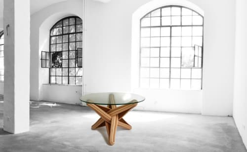"""""""Lock""""   bamboo coffee table   Tables by JAN PAUL   Private Residence - Maastricht, Netherlands in Maastricht"""