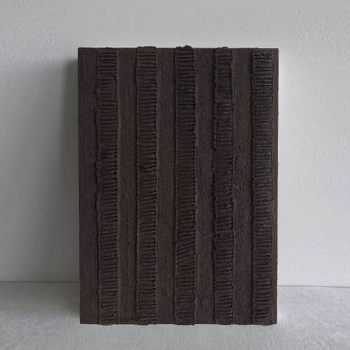 Paintings by Monica Curiel seen at Private Residence, Denver - Vertical Movement in Brown, 2021