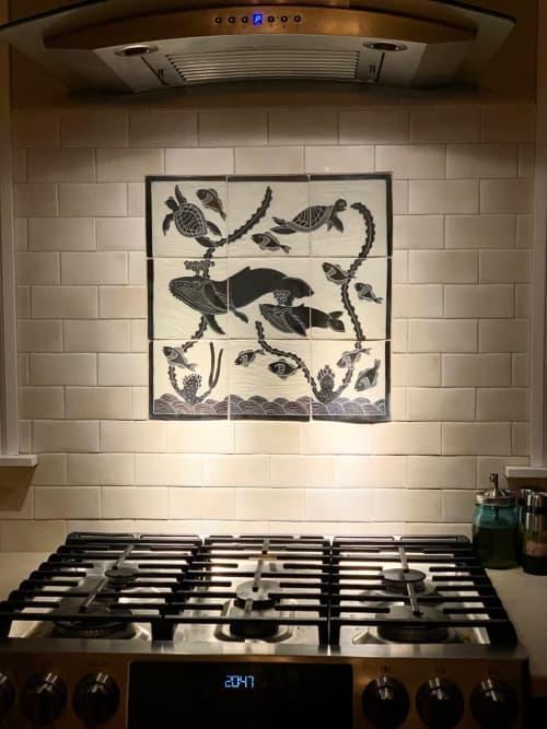 Custom tiles for installation | Tiles by Flying Pig Pottery