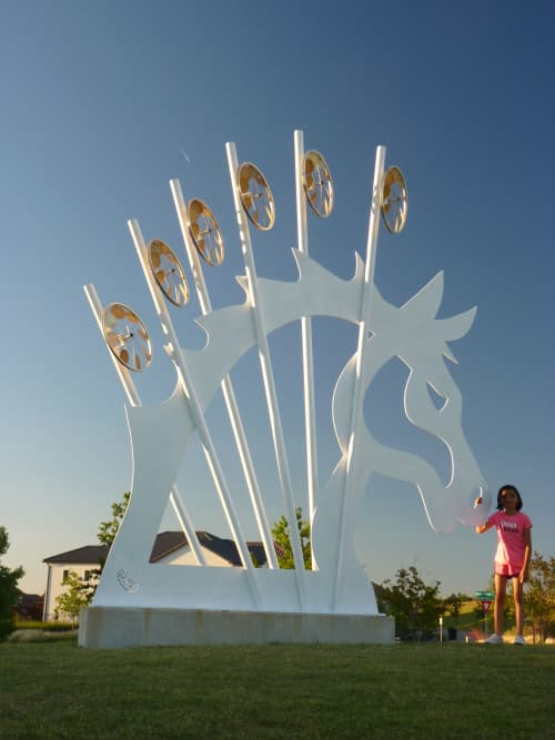 Dreaming | Public Sculptures by Patricia Vader | Wranglers Range Park in Frisco