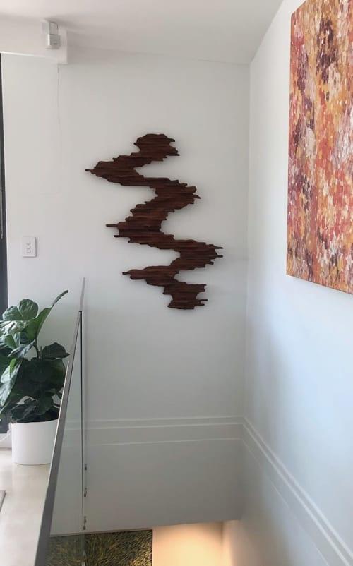 Wild Wave II - Wall Sculpture   Sculptures by Lutz Hornischer - Sculptures & Wood Art