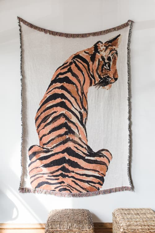 Wall Hangings by Clementine Studio seen at Private Residence, Chicago - Tiger Art Blanket