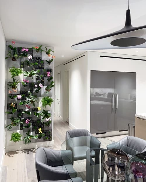 Ceramic wallscape greenwall - The Node Collection   Vases & Vessels by Pandemic Design Studio