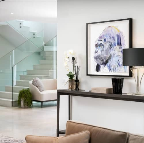Paintings by Dave White seen at Private Residence, Faro - SILVERBACK VII