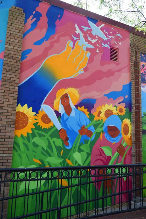 Murals by Emily Alvarez seen at Overland Park, Overland Park - Esperanza Mural