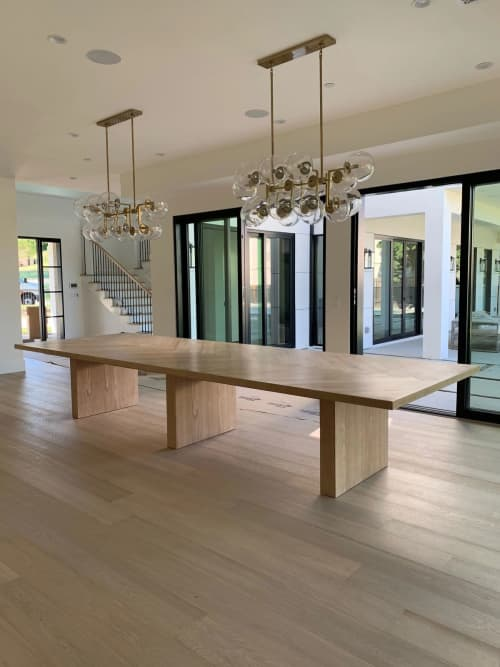 Custom Chevron Table   Tables by Larry St. John & Co. Custom Furniture