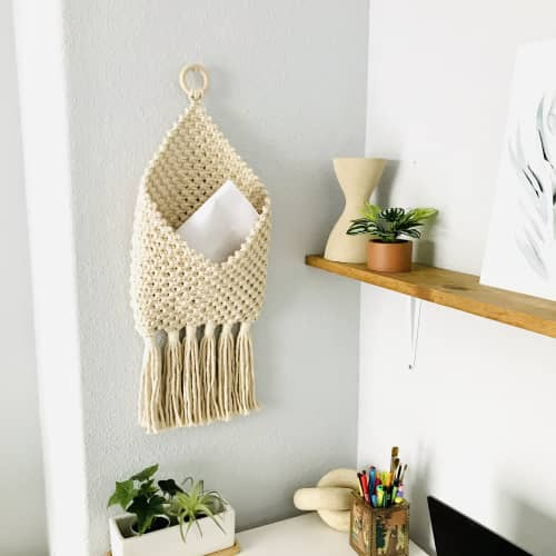 Wall Hangings by YASHI DESIGNS seen at Private Residence, Hugo - Scandi style woven letter holder- ENVELOPE