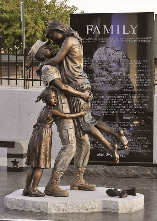 Public Sculptures by Sutton Betti seen at West Point, West Point - Returning Home