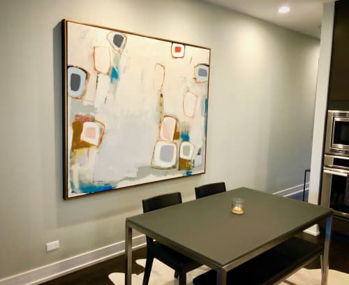 Paintings by Glenna Adkins seen at Private Residence, Chicago - Abstract Painting