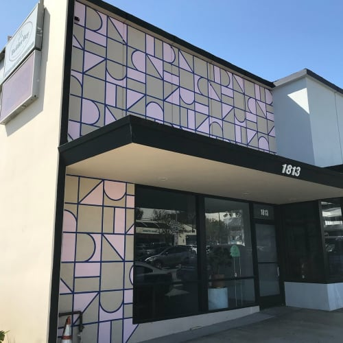 Storefront Mural | Murals by Top Notch Signs | Amigo Modern in Signal Hill