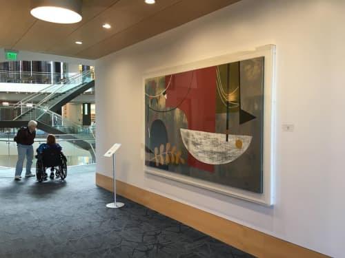 Arch Rock | Paintings by Martin Webb | Hayward Public Library in Hayward