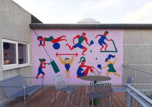 Street Murals by NOWHERELAND - Sporting Health Club