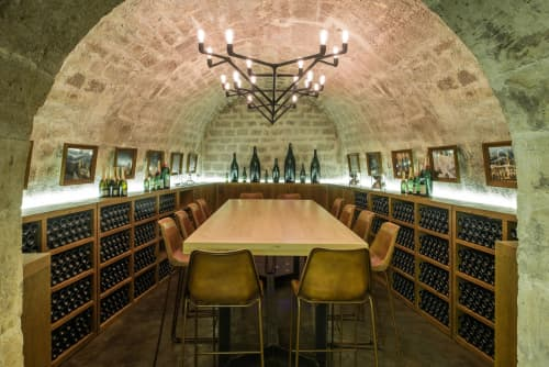 Structure - Leopoldine | Chandeliers by Ombre Portée | Les Caves du Louvre in Paris