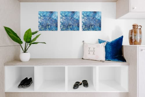 Wall Hangings by Chieko Shimizu Fujioka seen at Creator's Studio, Santa Clara - Starry Sky Square (Made-to-order)