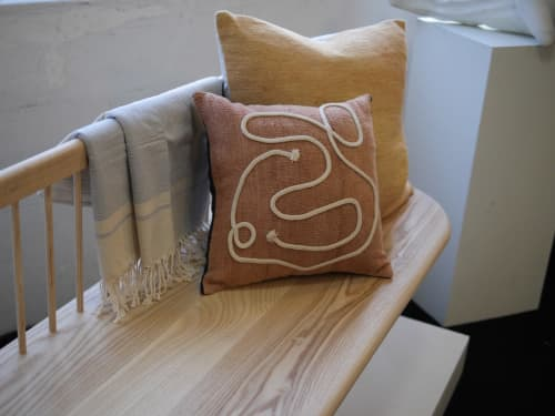 Single Sided Vintage Hemp Pillows | Pillows by HOME | Wescover Gallery at West Coast Craft SF 2019 in San Francisco
