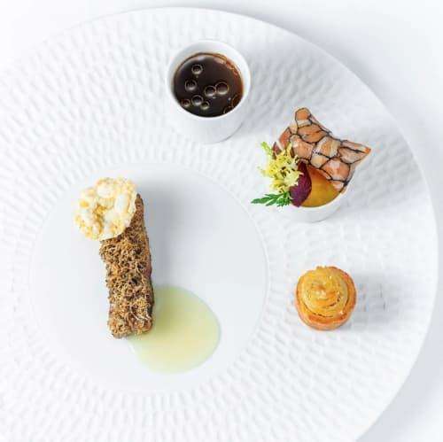 Texture plate Chuva   Ceramic Plates by Mieke Cuppen   Evvai Restaurant in Pinheiros
