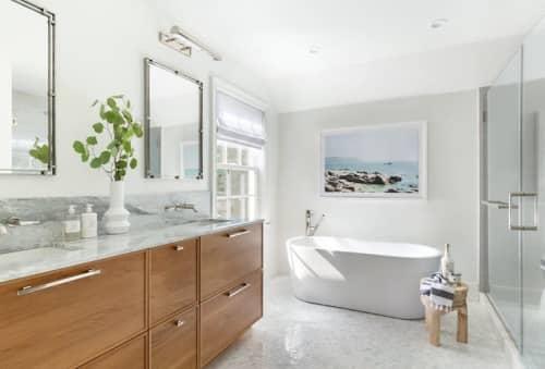 Superwhite Quartzite | Tiles by ABC Stone | Cedar Hedge House in Southampton