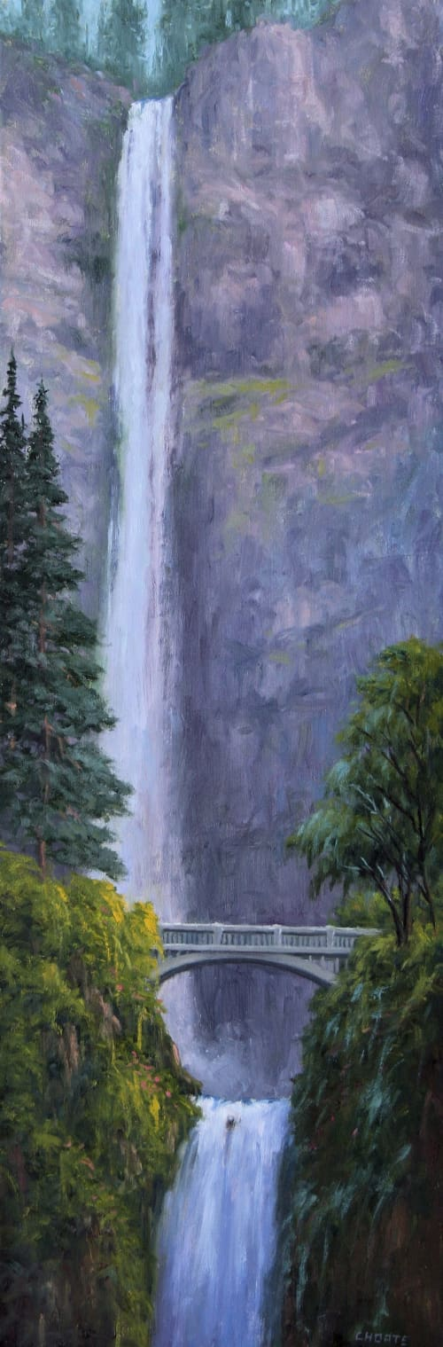 Paintings by Fred Choate Fine Art - Multnomah Falls