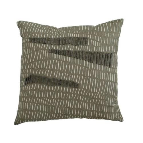 Wallpaper by Jill Malek Wallpaper - Terrains Pillow   Coal