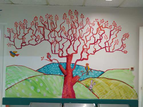 Murals by Tania Christoforatou seen at University General Hospital of Heraklion - Tania Christoforatou