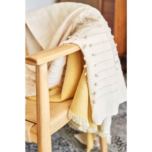 Chalk Merino Throw   Linens & Bedding by Studio Variously