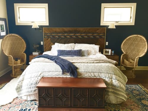 Furniture by Sweet Home Wiscago seen at Private Residence, Chicago, IL, Chicago - Wood Art Headboard
