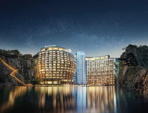 Interior Design by Cheng Chung Design (HK) Co., Ltd. seen at Shanghai InterContinental Wonderland, Songjiang Qu - Hotel Project