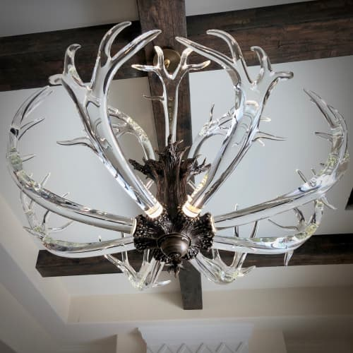 Chandeliers by LWSN seen at Private Residence, Dallas - The Crystal Antler Chandelier
