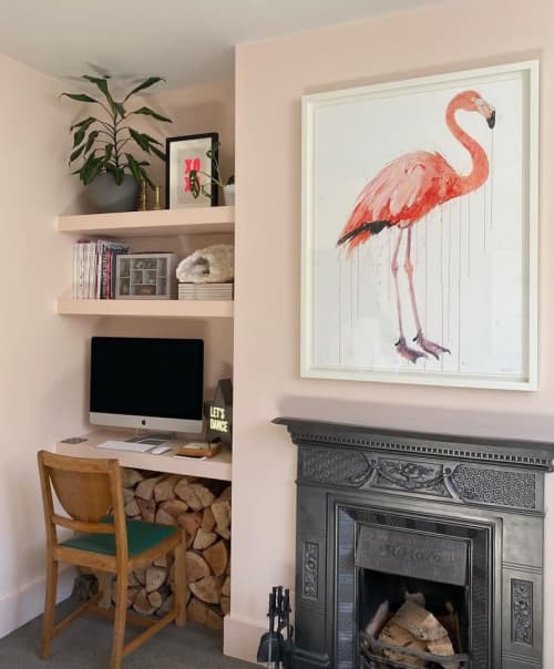 Paintings by Dave White seen at Private Residence - Flamingo II