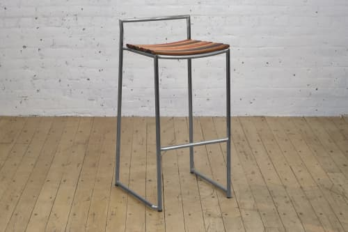 Clearance Slade Bar + Counter Backless Stool | Chairs by From the Source
