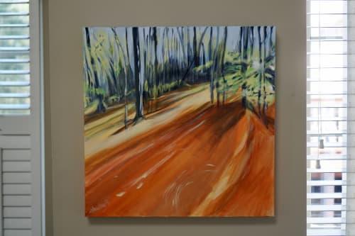 Autumn's Reach   Paintings by Shirley Bavonese   Private Residence, Ann Arbor in Ann Arbor