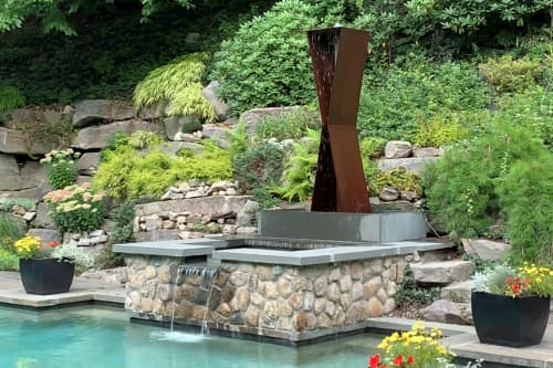 X2 Modfountain   Plants & Landscape by MODFOUNTAIN Modern Fountains for Modern Landscapes