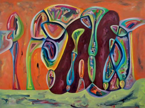 Paintings by David Kraisler, artist seen at David Kraisler Artist, Sandpoint - An Architectural Wink
