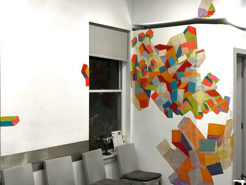 Site Specific Wall Mural | Murals by Margery Amdur | Richard Nicholas Hair Studio in Philadelphia