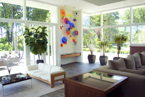 Sculptures by April Wagner, epiphany studios seen at Private Residence - Analogous Round/ Elle
