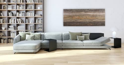 Weathered Olive Green Gradient Artwork | Wall Hangings by Craig Forget