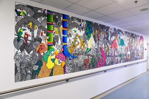 Murals by Melinda Šefčić at University Hospital Centre Zagreb, Zagreb - Melinda Šefčić