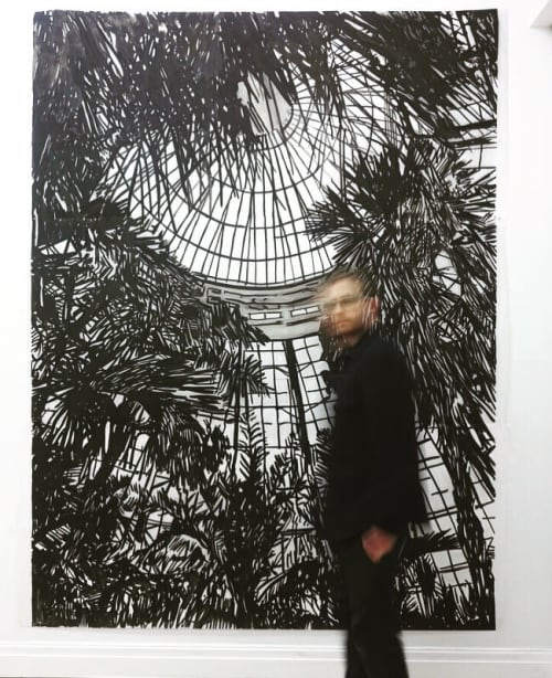 Paintings by Jeremy Wagner Studio seen at Private Residence, Brooklyn - Untitled (Black GreenHouse)