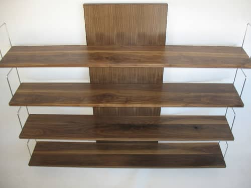 Slippery Shelves - Walnut   Furniture by Mark Righter - Cambium Studio