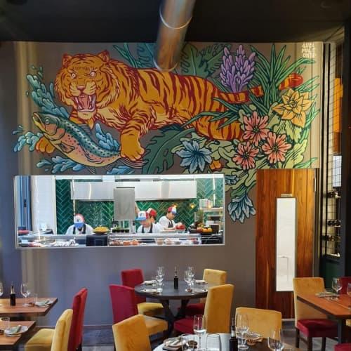 Mural   Murals by Luca Maleonte   NIMA Sushi & Uramakeria (Milano Centrale) in Milano