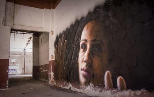 Murals by Cayn Sanchez at Art Deal Project, Barcelona - Cadavre exquis