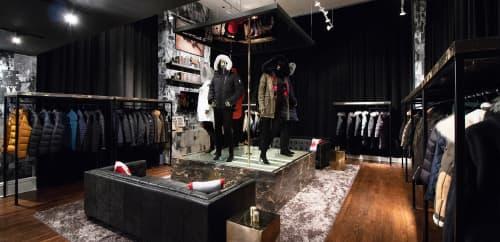 Interior Design by Gala Magrina Design seen at New York, New York - Moose Knuckles Showroom