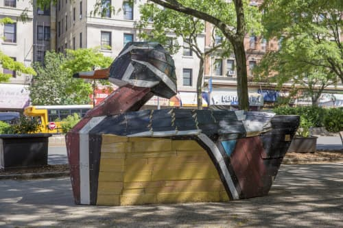 Public Sculptures by Nicolas Holiber seen at Ilka Tanya Payán Park, New York - Wood Duck