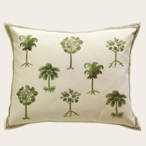 Pillows by Chelsea Textiles seen at Domain Grande Bastide, Tourrettes - Palm Trees Pillow