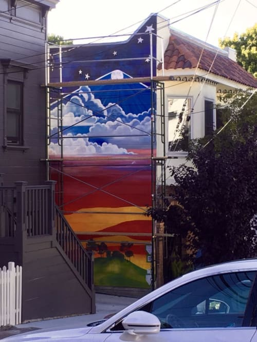 Murals by Roberta Ahrens Studio seen at Private Residence, San Francisco - Dawn to Dusk